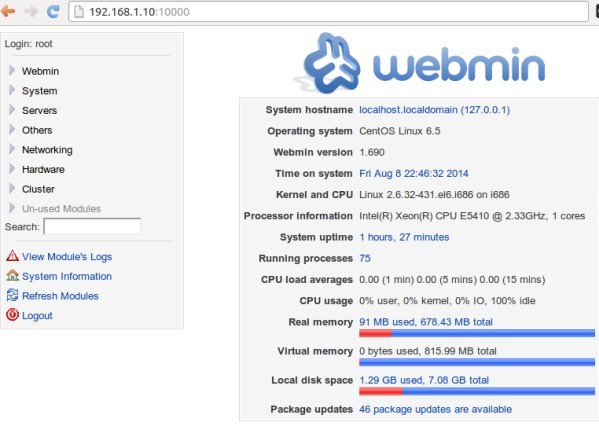How to install webmin control panel on VPS Centos 6 VULTR