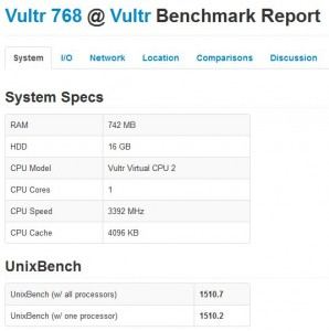 vultr test review benchmark 3
